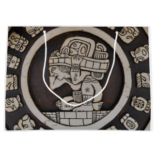 Ancient Mayan Warrior Large Gift Bag