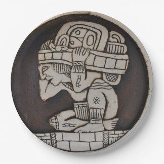 Ancient Mayan Warrior Paper Plate