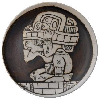 Ancient Mayan Warrior Plate