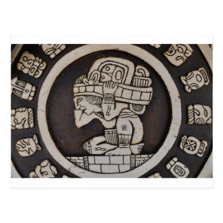 Ancient Mayan Warrior Postcard