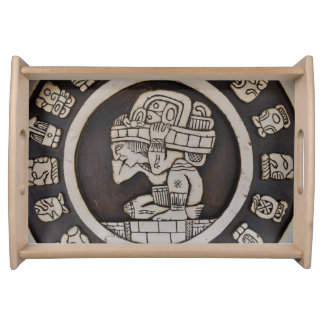 Ancient Mayan Warrior Serving Tray