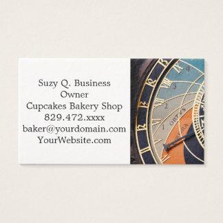 Ancient Medieval Astrological Clock Czech Business Card