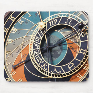 Ancient Medieval Astrological Clock Czech Mouse Pad