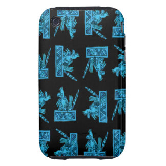 Ancient Mexican Bird Pattern Tough iPhone 3 Covers