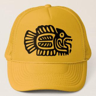 Ancient Mexican Fish Motif Cap