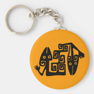 Ancient Mexican Motif Key Chain