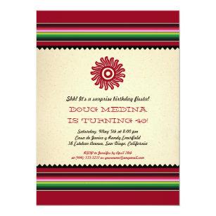 fiesta theme party 7x5 invitations announcements zazzle au