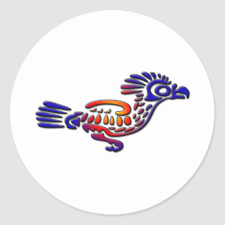 Ancient Mexico Design Road Runner Classic Round Sticker