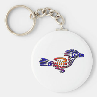 Ancient Mexico Design Road Runner Basic Round Button Key Ring