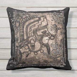 "Ancient Mexico Outdoor Throw Pillow 20"" x 20"""