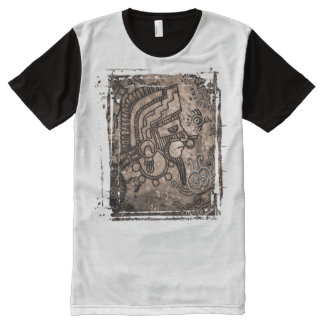 Ancient Mexico Printed Panel T-Shirt