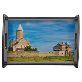 Ancient Monastery Exterior Serving Tray