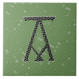 Ancient Monogram Letter A Ceramics Tile