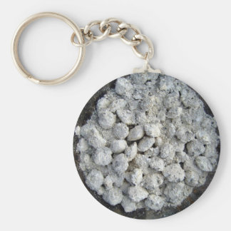 Ancient mud bowl with white material keychain