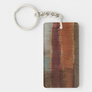Ancient Musings II Double-Sided Rectangular Acrylic Key Ring