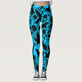 Ancient Mythical Creature Electric Blue Leggings