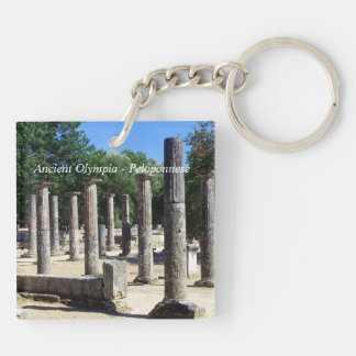Ancient Olympia - Peloponnese Double-Sided Square Acrylic Key Ring