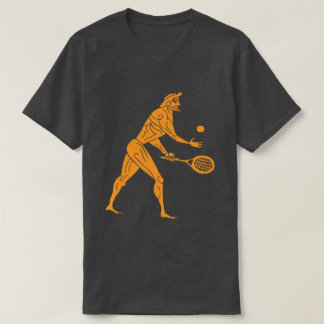 Ancient Olympian Playing Tennis Funny Sports Dark T-Shirt