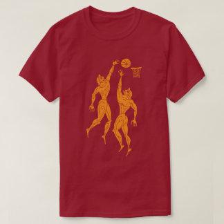 Ancient Olympians Playing Basketball Funny Dark T-Shirt