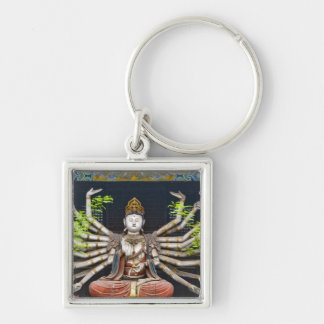 Ancient painted sculptures in Shuanglin Keychains