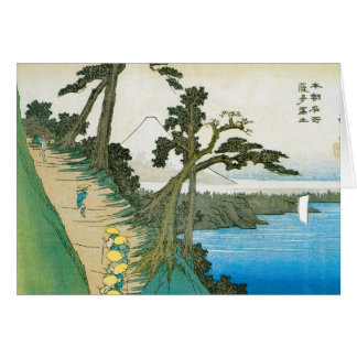 Ancient Painting of Mt. Fuji c. 1837 Japan Cards