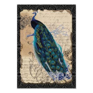Ancient Peacock Vintage RSVP Response Invite