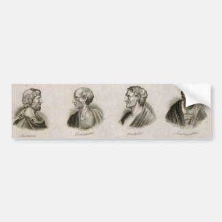 Ancient Philosophers Portrait Thinkers Vintage Bumper Sticker