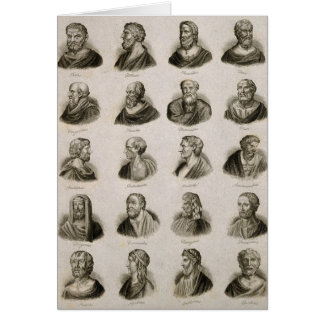 Ancient Philosophers Portrait Thinkers Vintage Card