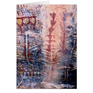 Ancient Pictograph Greeting Card, Blank Inside Card