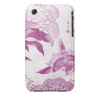 Ancient Pink Bird iPhone 3 Cases