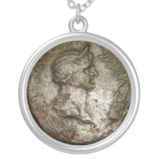 Ancient Roman Coin Silver Plated Necklace