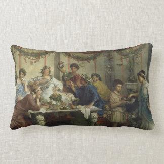Ancient Roman Dinner Party Feast Cushion