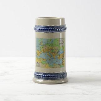 Ancient Roman Empire Map Decorative Drinking Stein Beer Steins