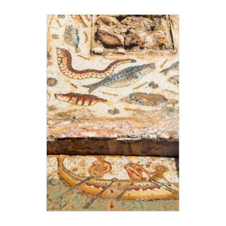 Ancient Roman Mosaic Acrylic Wall Art