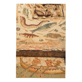 Ancient Roman Mosaic Wood Wall Decor