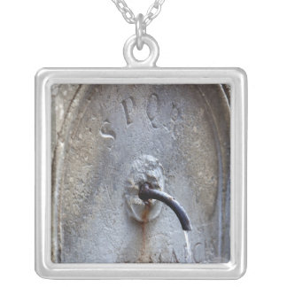 Ancient Roman public water fountain Silver Plated Necklace