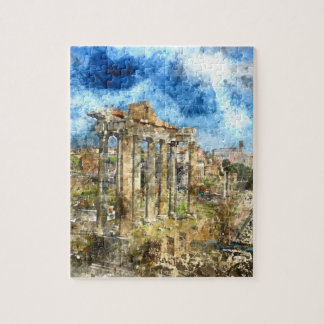 Ancient Roman Ruins in Rome Italy Jigsaw Puzzle