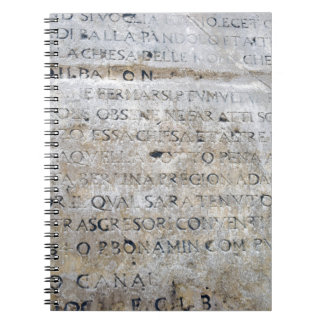 Ancient Roman Sign Spiral Notebook