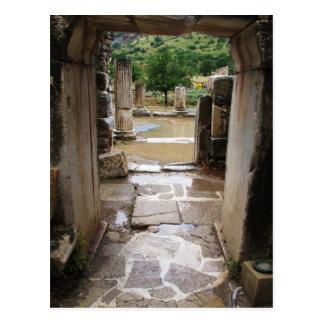 Ancient Roman stone doorway in Ephesus, Turkey Postcard