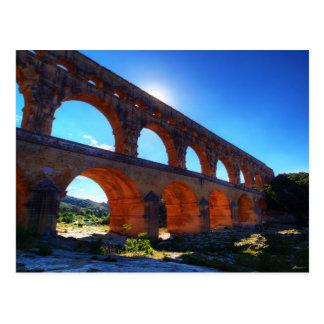 Ancient Roman Worsens Viaduct - Bridge Of Gard Fra