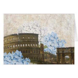 Ancient Rome Blue Hydrangea Card