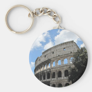 Ancient Rome Colosseum Basic Round Button Key Ring