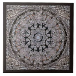 Ancient Rome Style Shell Scroll Stone Mandala Ceramic Tile