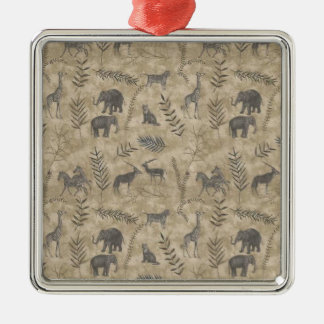 Ancient Rome Style Silver-Colored Square Decoration