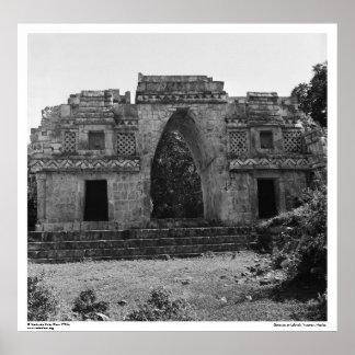 Ancient Ruins: Gateway to Labna, Yucatan, Mexico Poster