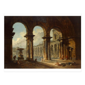 Ancient Ruins Used as Public Baths Hubert Robert Postcard