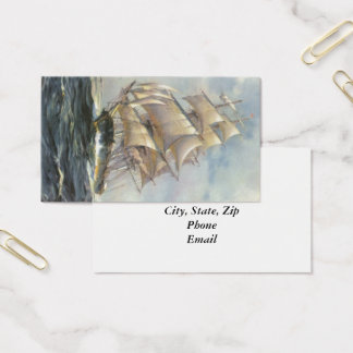 Ancient Sailing Ship Business Card