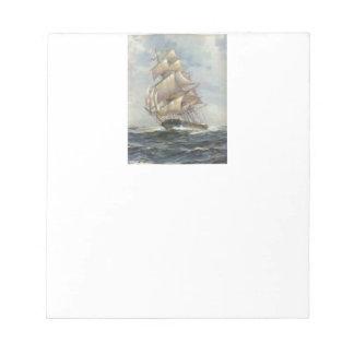 Ancient Sailing Ship Notepad