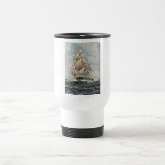 Ancient Sailing Ship Travel Mug