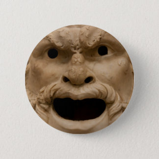 Ancient Satyr mask 6 Cm Round Badge